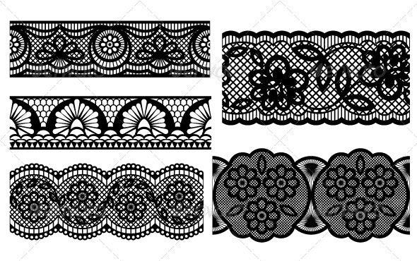 Lace. Decorative seamless patterns - Patterns Decorative