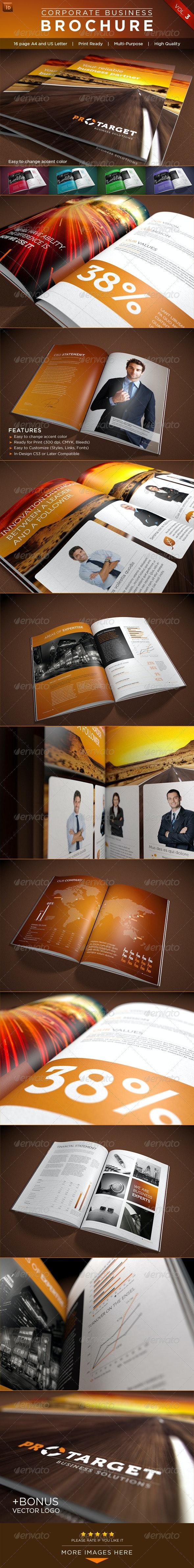 Corporate Business Brochure Vol. 3 - Brochures Print Templates