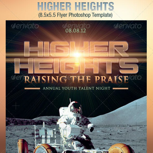 Higher Heights Youth Talent Night Flyer Template