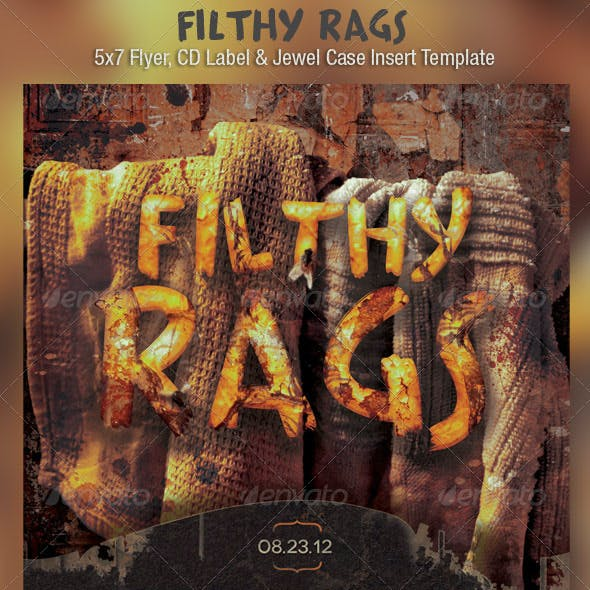 Filthy Rags Flyer CD Template