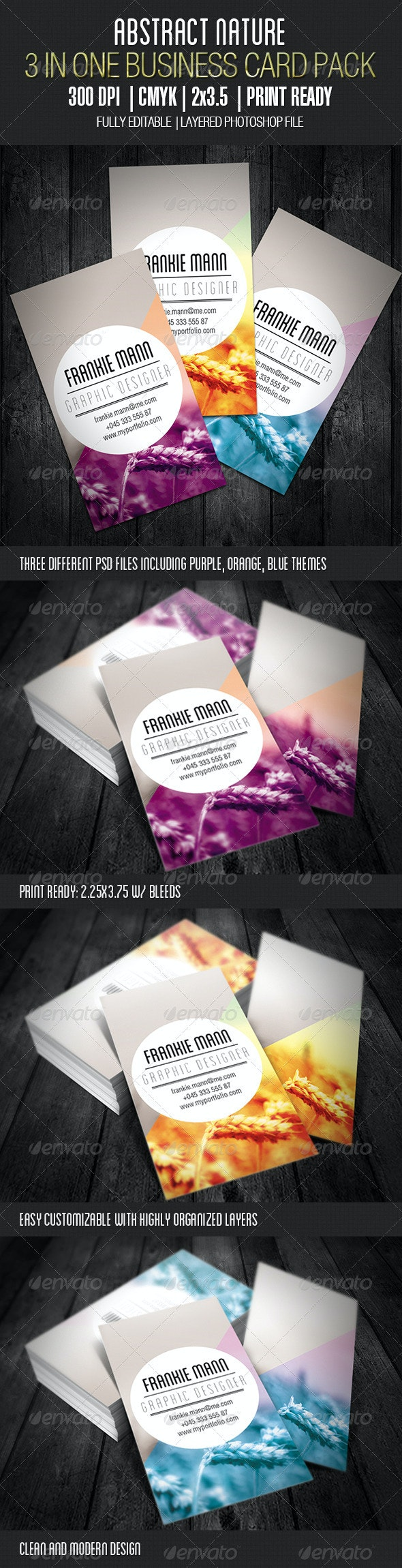 Abstract Nature Business Card - Business Cards Print Templates