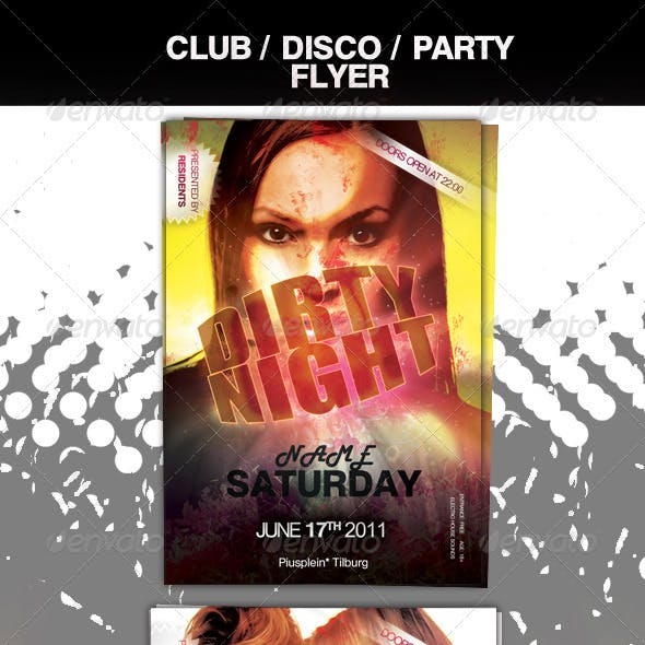 Dirty Club Party Flyer
