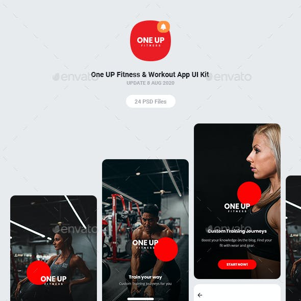 One UP Fitness & Workout App UI Kit