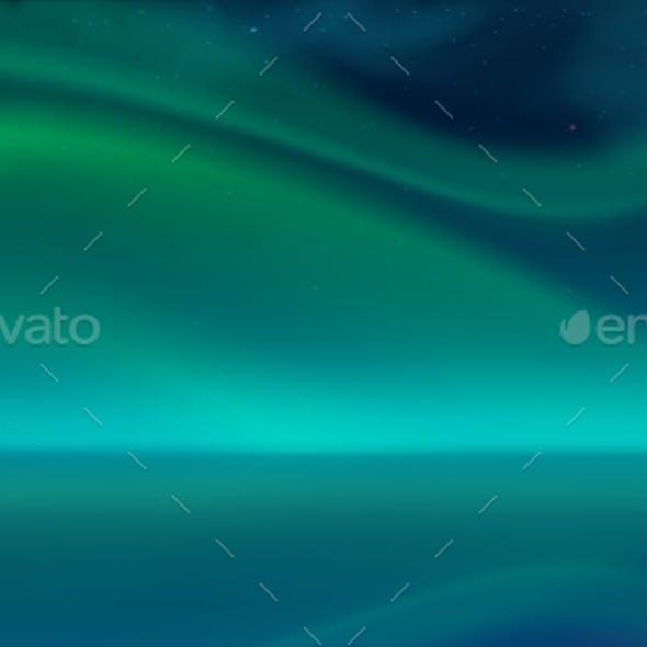 Aurora Borealis, Northern Lights in Night Sky