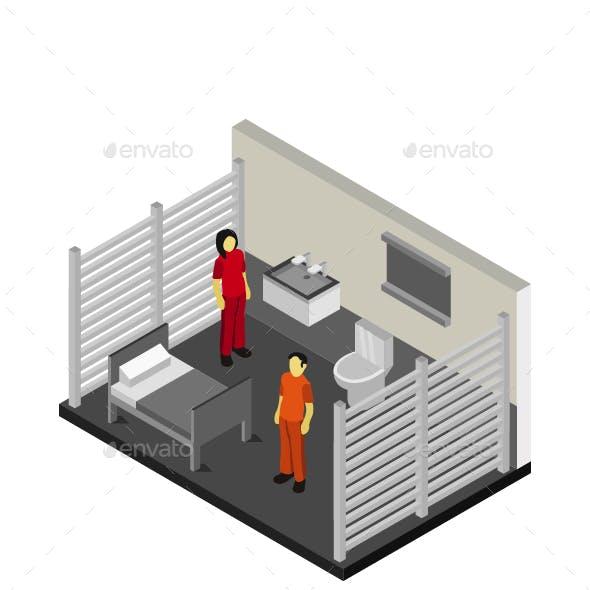 Isometric Prison Room