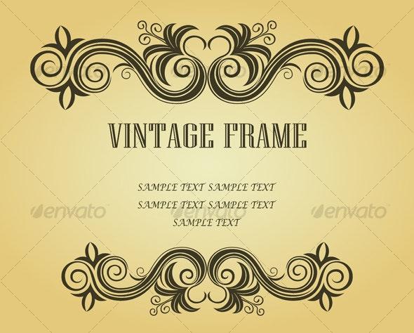 Vintage frame in victorian style - Flourishes / Swirls Decorative