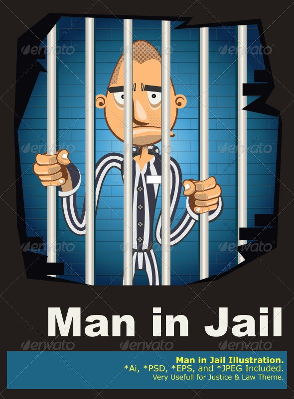 Prisoner in Jail - People Characters