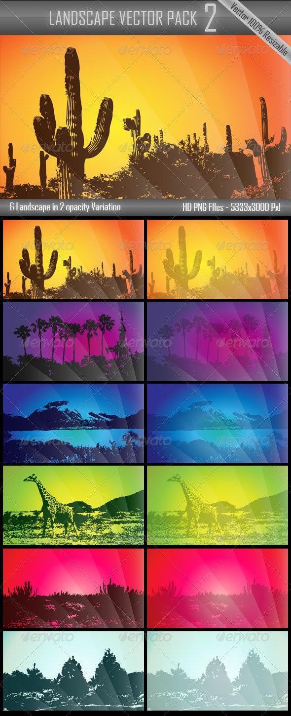 Landscape Vector Pack 2 - Backgrounds Decorative