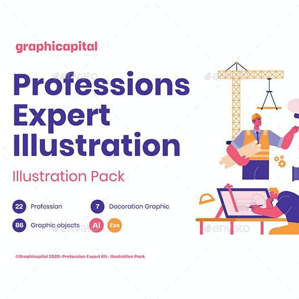 Profession Expert Illustration