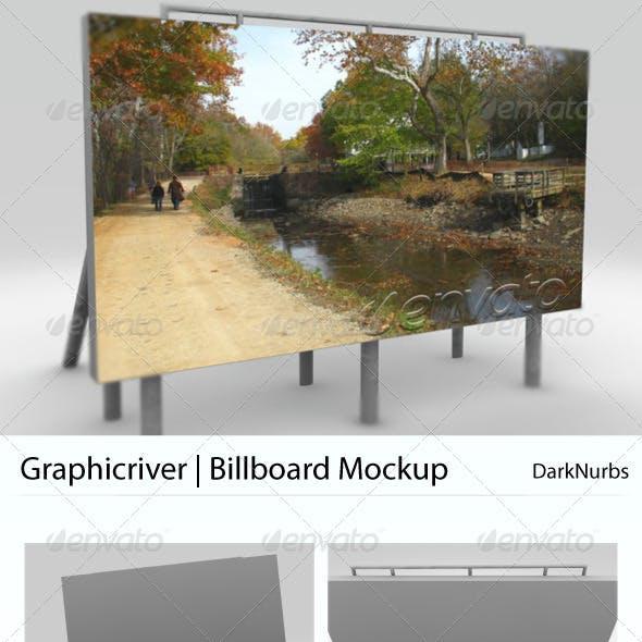 5 Views Billboard Mockup