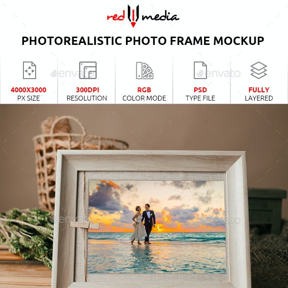 Photorealistic Photo Frame Mockup
