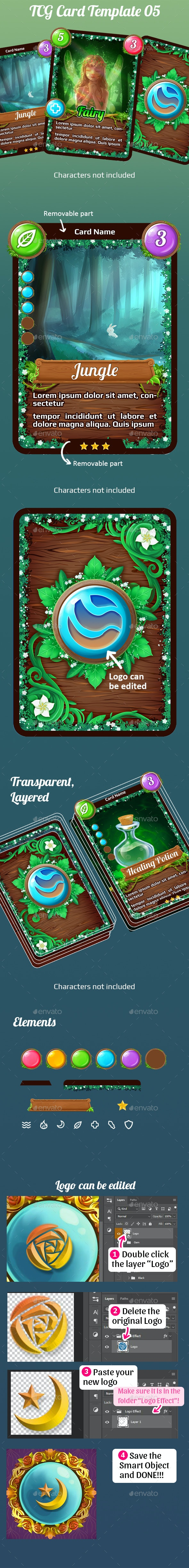 TCG Card Template 05 - Miscellaneous Game Assets