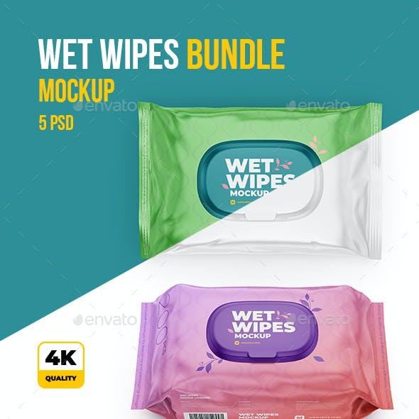 Wet Wipes Mockup BUNDLE - 5 PSD