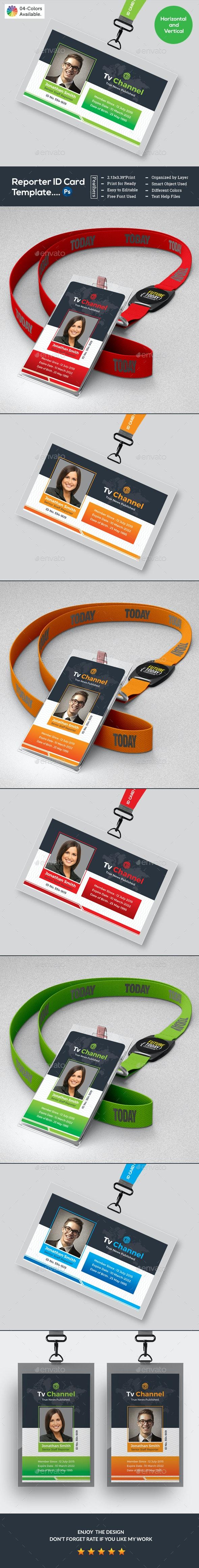 Press Pass ID Card - Miscellaneous Print Templates