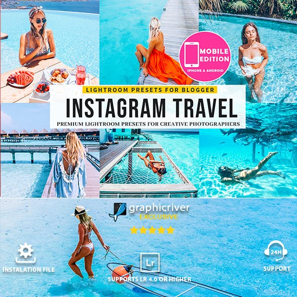 Instagram Blogger Travel lightroom presets
