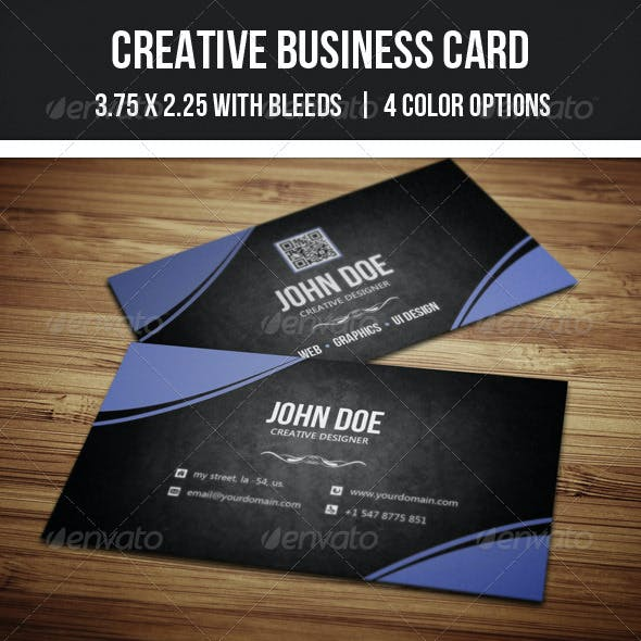 Creative Curve Bsiness Card