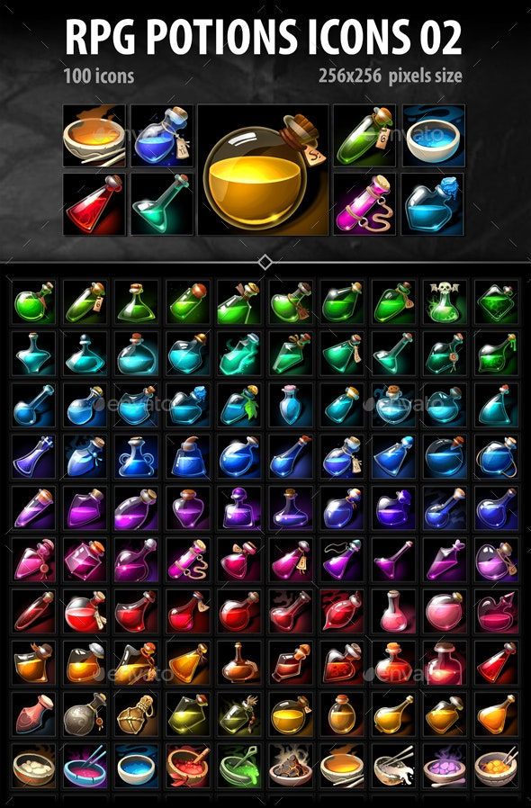 RPG Potion Icons 02