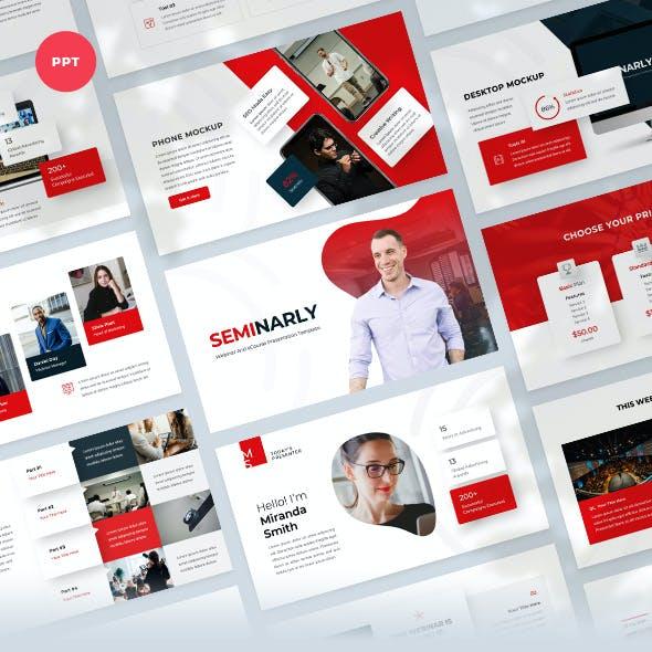 Webinar & Ecourse PowerPoint Template