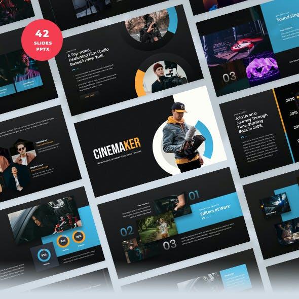 Movie Studio & Film Maker PowerPoint Template