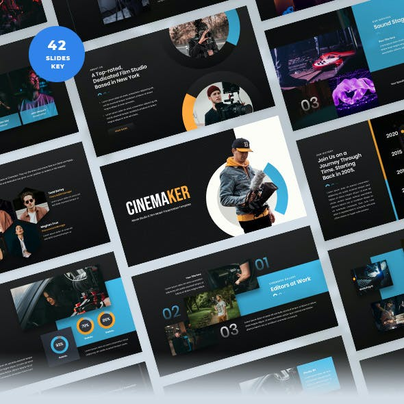 Movie Studio & Film Maker Keynote Template
