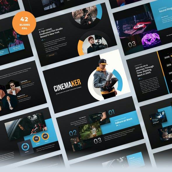 Movie Studio & Film Maker Google Slides Template