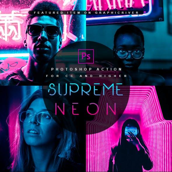 Supreme Neon - Premium Photoshop Action