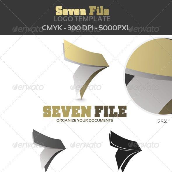 7 File Logo Template
