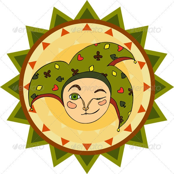 Jester Face Sign - Objects Vectors