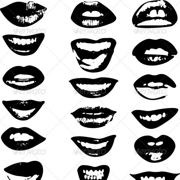 Lips Set Woman