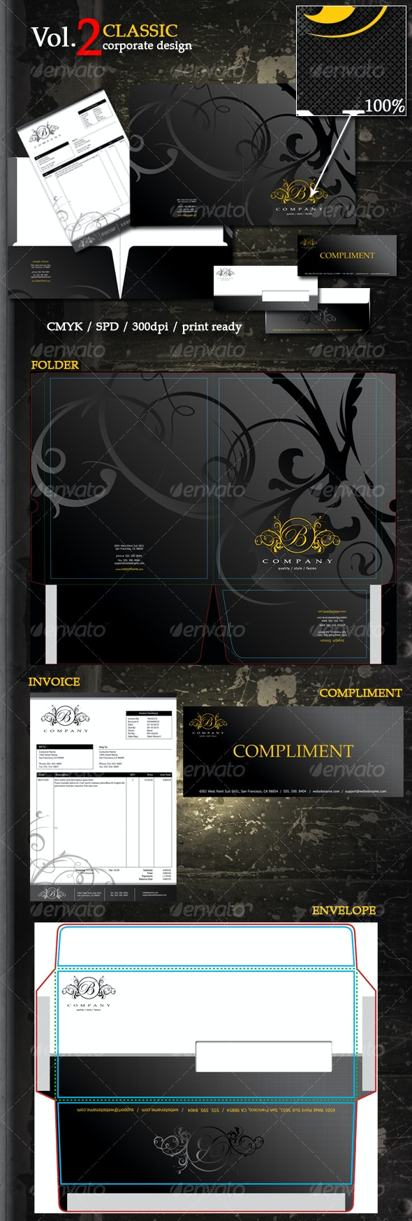 Small Corp Design Vol.2 - Stationery Print Templates