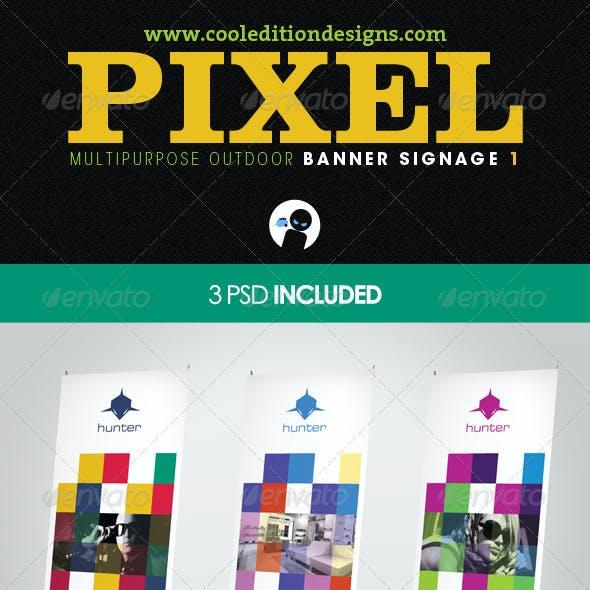 Pixel - Multipurpose Outdoor Banner Signage 1