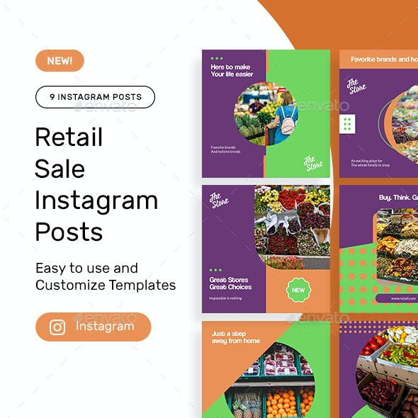 Retail Products Instagram Posts