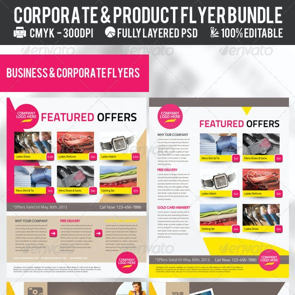 Corporate & Product Flyer Premium Bundle