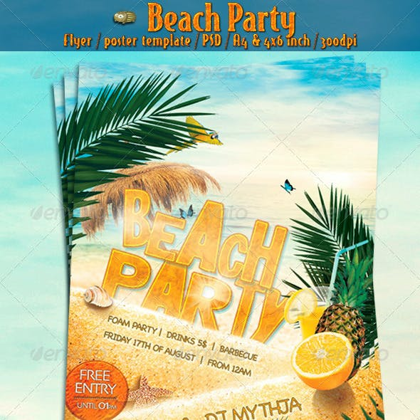 Beach Party Vol.1 - Flyer/Poster Template
