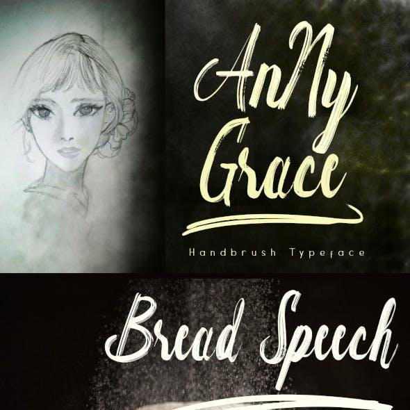Anny Grace Handbrush Typeface