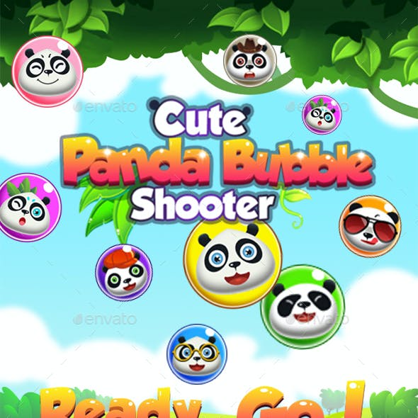 Bubble Shooter Unity Asset Reskin: Panda