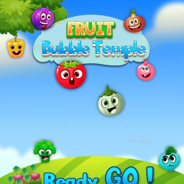 Bubble Shooter Unity Asset Reskin: Fruit