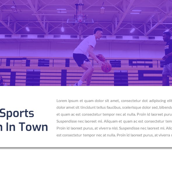 Olympican - Basketball Sport Powerpoint Template