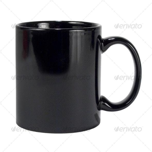 Black Coffee Mug - Food & Drink Isolated Objects