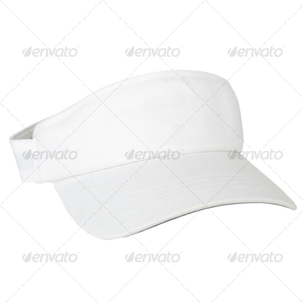 White Visor - Clothes & Accessories Isolated Objects