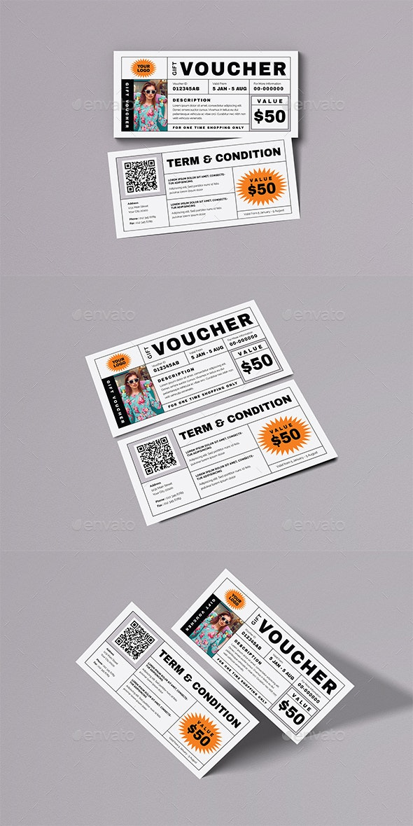 Simple Gift Voucher - Cards & Invites Print Templates