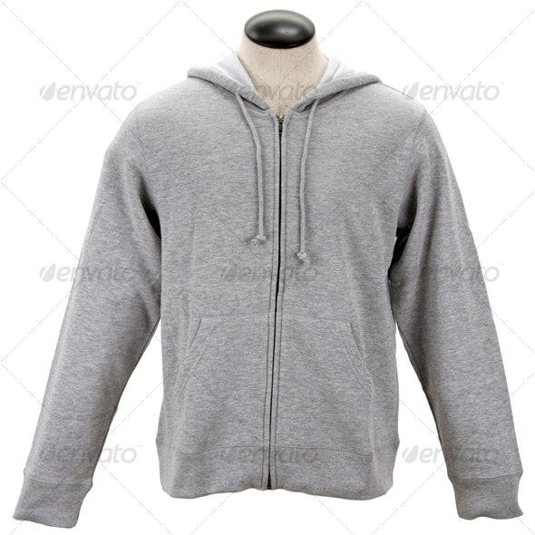 Gray Hoodie - Clothes & Accessories Isolated Objects