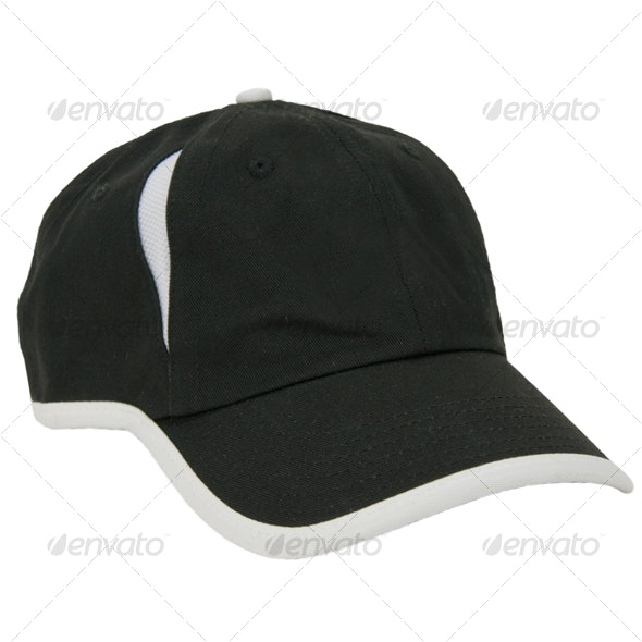 Black Baseball Hat - Clothes & Accessories Isolated Objects