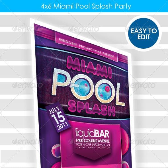 Miami Pool Party Flyer