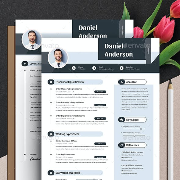 Modern Resume Cv Template Word Apple Pages