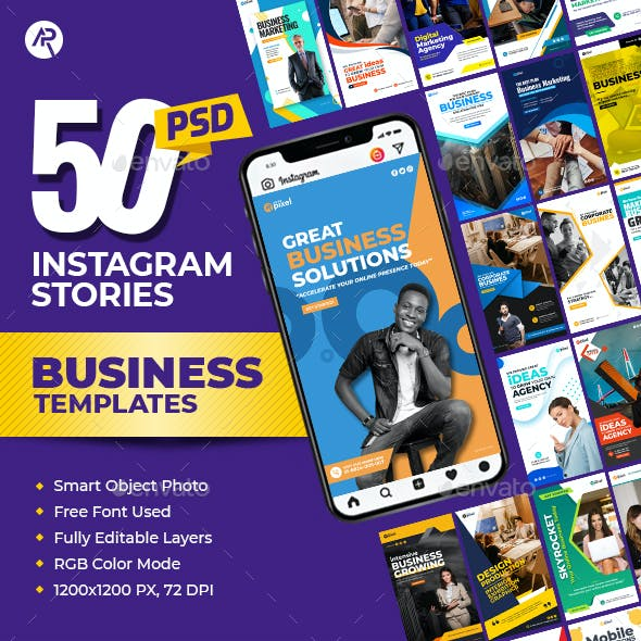 50-Instagram Business Stories Banners