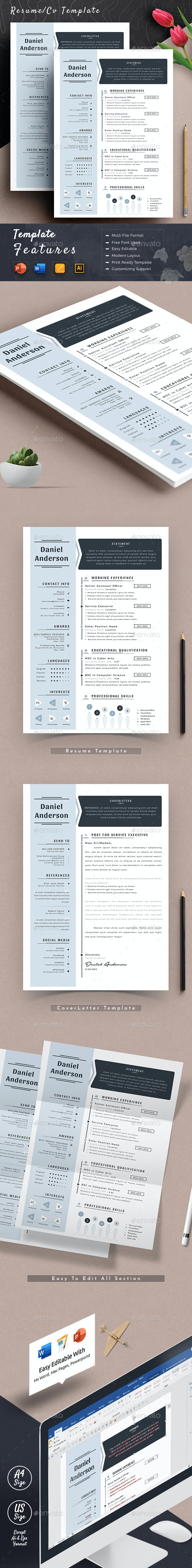 Clean Resume Cv Template Word Apple Pages - Resumes Stationery