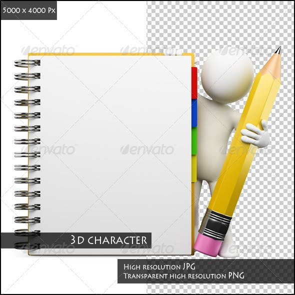 3D White People. Notepad