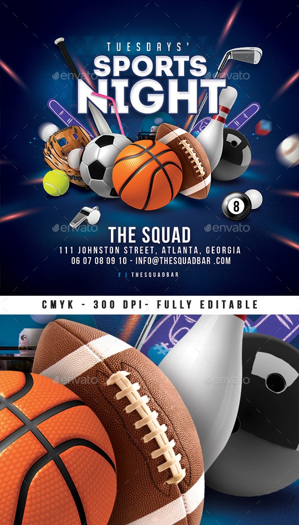 Bar Sport Unlimited Night Flyer - Events Flyers