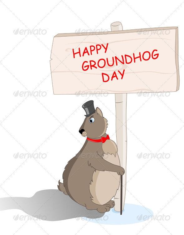 Groundhog Saw his Shadow - Miscellaneous Seasons/Holidays